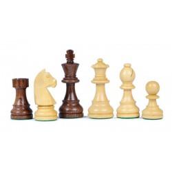 Pièces d'échecs en sheesham n°2, plombées-feutrées