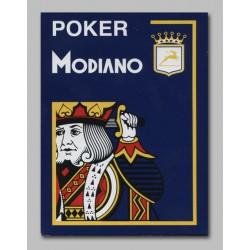 Cartes à jouer Modiano Poker 100 % plastique 4 index