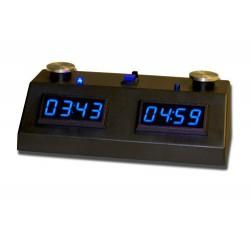 Pendule ZmartFun II Tactile noire à leds bleues