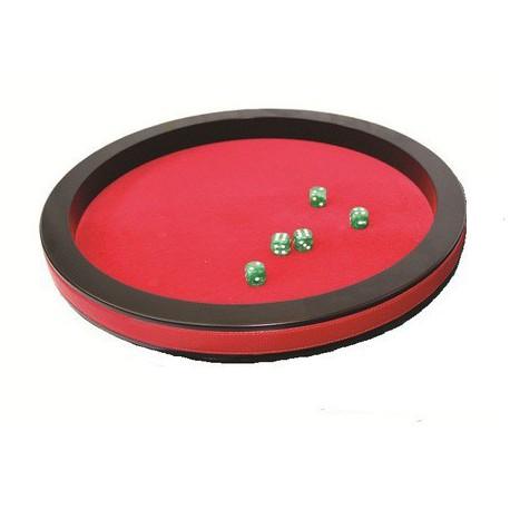 Piste de dés prestige rouge 36 cm