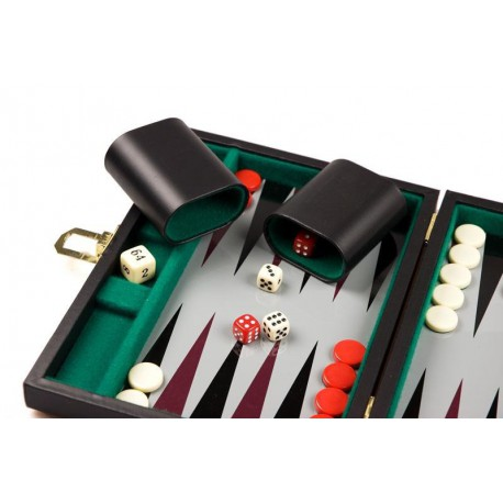 Backgammon magnétique noir