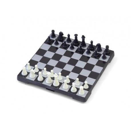 Coffret d'échecs magnétique pliant blanc et noir - grand modèle