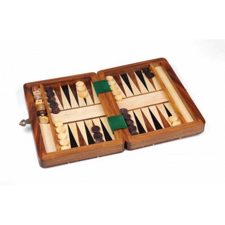 Backgammon sheesham, petit modèle