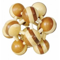 Casse-tête en bambou Atom 2 - 3 étoiles