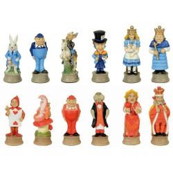 Pièces d'échecs Alice au Pays des Merveilles - Taille 3.5