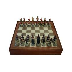 Coffret d'échecs Napoléon-Wellington n°3 (40cm)