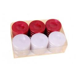 Pions de backgammon nacré rouge petit modèle