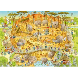 Puzzle 1000 pièces - Funky zoo African habitat