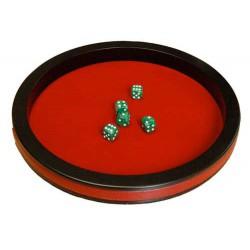 Piste de dés prestige 40 cm rouge