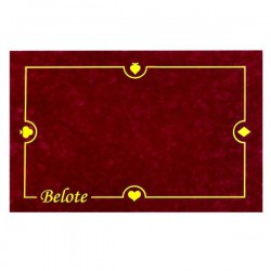 Tapis Belote Bordeaux 40X60cm