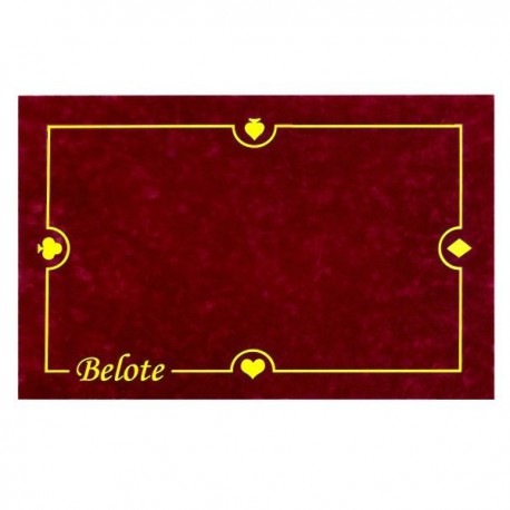 Tapis Belote Bordeaux 40X60cm
