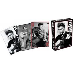 Cartes à jouer Elvis Presley noir et blanc