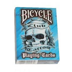 Cartes Bicycle Club Tattoo bleu