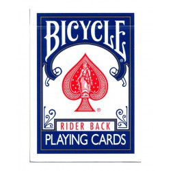 Cartes Bicycle Rider Back marqué bleu