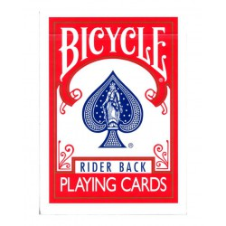 Cartes Bicycle Rider Back marqué rouge