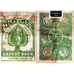Cartes à jouer Bicycle Expert back Green