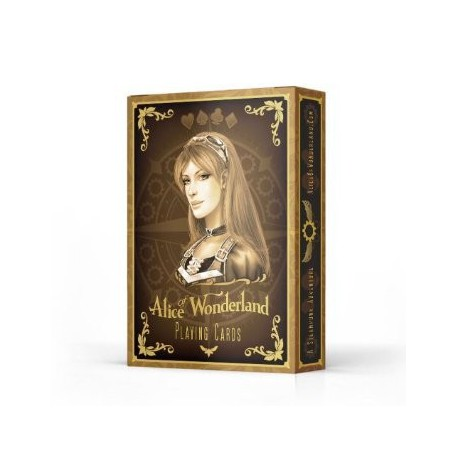 Cartes à jouer Bicycle Alice in the Wonderland Gold