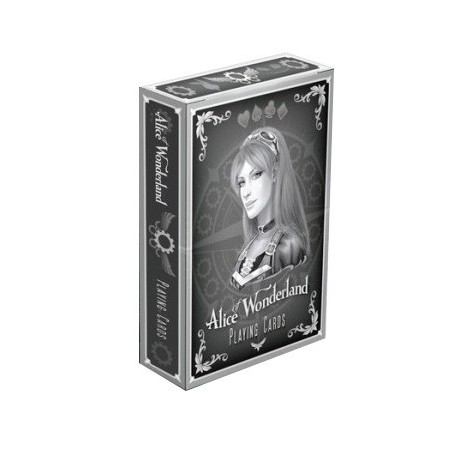 Cartes à jouer Bicycle Alice in the Wonderland Silver