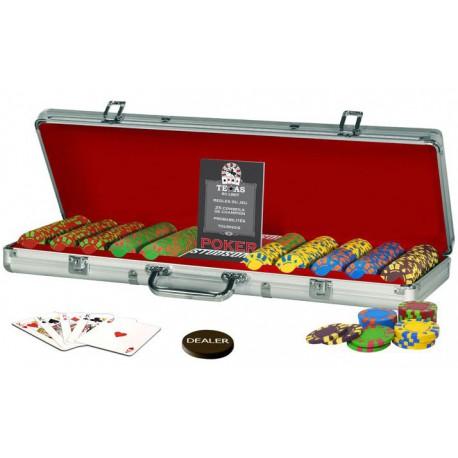 Mallette de Poker Lucky Star 500 jetons