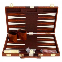 Backgammon marron 38 cm