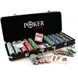 Mallette noire poker 500 jetons Grimaud