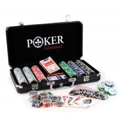 Mallette Poker noire 300 jetons Grimaud
