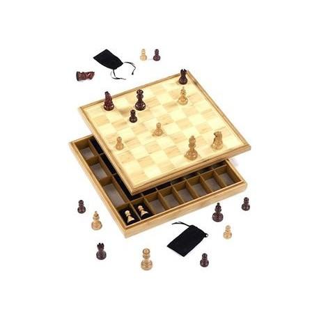 Ensemble d'échecs en bambou