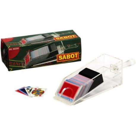 Sabot à cartes transparent