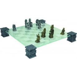 Jeu d'échecs Dragons avec échiquier en verre