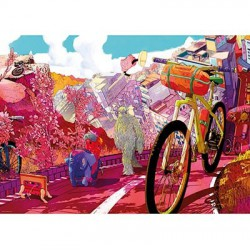 Puzzle 1000 pièces - Tour in pink