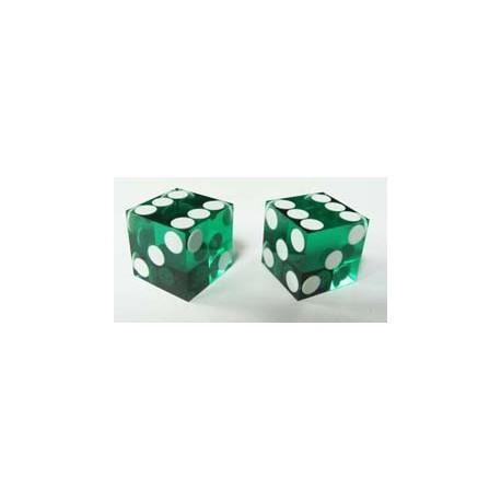 Dés de précision vert casino