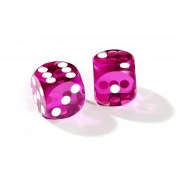 Dés de précision violet backgammon