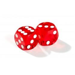 Dés de précision rouge backgammon