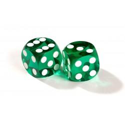 Dés de précision vert backgammon