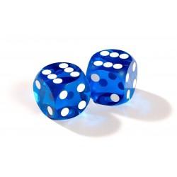 Dés de précision bleu backgammon