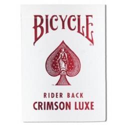 Cartes à jouer Bicycle Rider back Crimson luxe