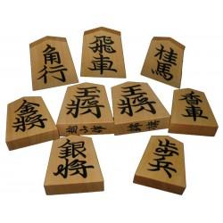 Pièces de Shogi bois deluxe Kaede Jobori