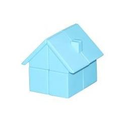 Cube 2x2 House bleu