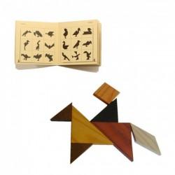 Casse-tête Tangram en bois