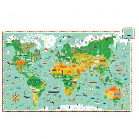 Puzzle 200 pièces - Tour du Monde
