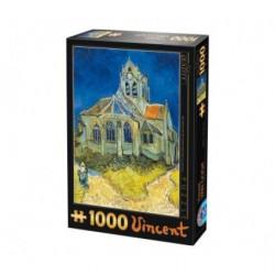 Eglise d'Auvers, Van Gogh - Puzzle 1000 pièces