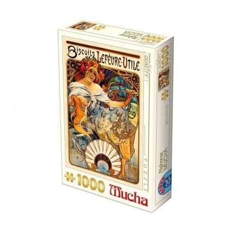 Puzzle 1000 pièces - Biscuits Lefèvre-Utile d' Alphonse Mucha
