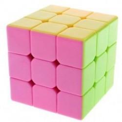 Cube 3x3x3 Stickerless Pink - YJ