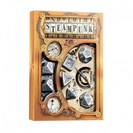 Set de 7 dés Steampunk métal