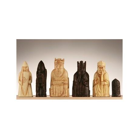 Pièces d'échecs Lewis Grand Modèle