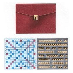 Scrabble duplicate de luxe magnétique bordeaux