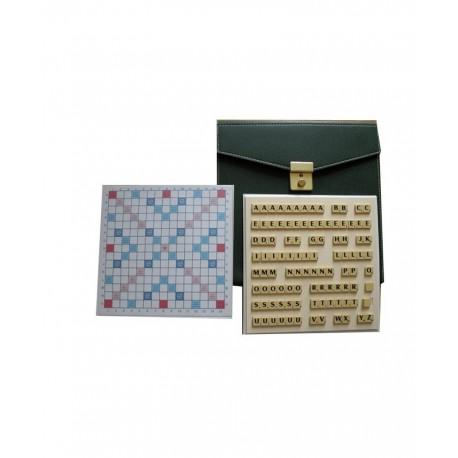 Scrabble duplicate de luxe magnétique vert