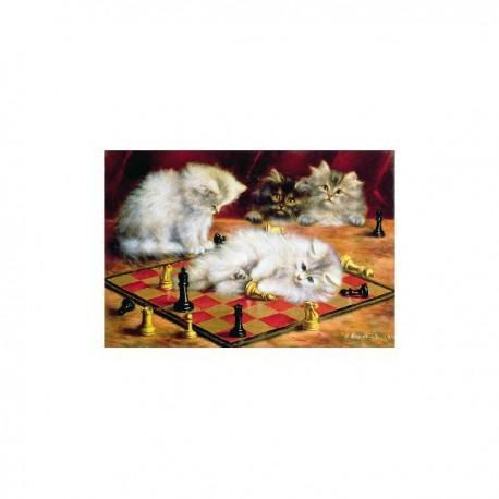 Puzzle 250 pièces - Talboys Les chats à l'échiquier
