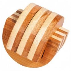 Casse-tête en bambou Klammern - 3 étoiles