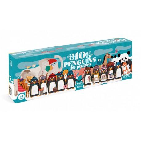 Puzzle 55 pièces - 10 Penguins